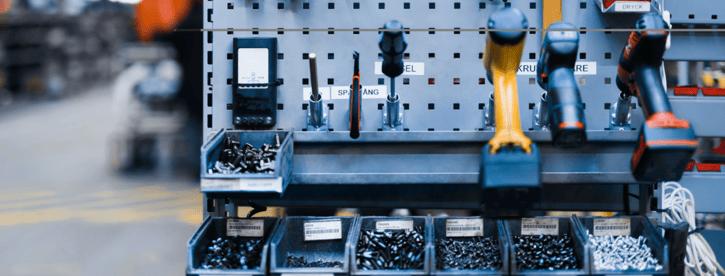 Atelier d'une usine Toyota où la méthode des 5S du Lean Management est de rigueur.